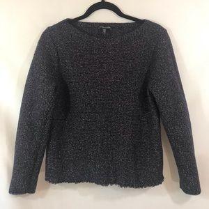 *EILEEN FISHER* Black/Beige Knit Sweater